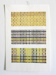 3x25x10. Akvarell, 31x46, 1992.