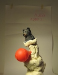 Bear & balloon. Mixed media, 2011.