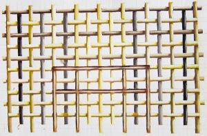 Flätning (detalj). Akvarell, 2000-tal.