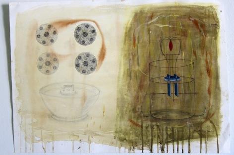 Laboratorium. Akvarell, 49,5x36, 1989-90.