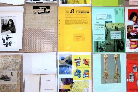 Laminerade collage (detalj). Pågående arbete, 2016.