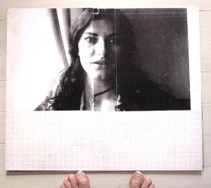 Laura. Akryl på fotografi på pannå, 40x55, pågående arbete, 2016.