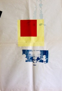 Rödgulblå (test). Screenfärg, 73x55, 1997.